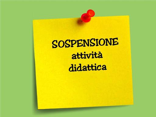 SOSPENSIONE ATTIVITA' DIDATTICHE IN PRESENZA